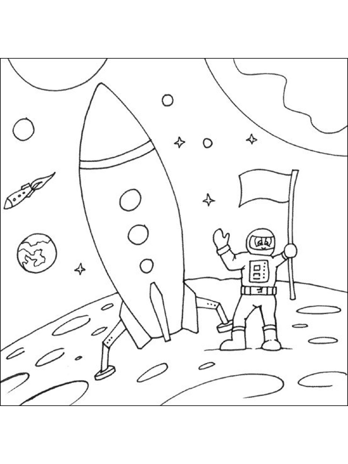 space rocket coloring pages - HD 1200×1600