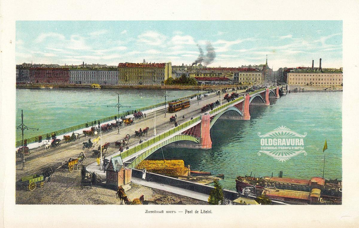 открытки мост время спб возможных