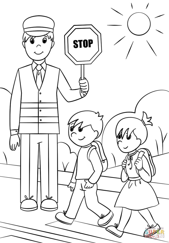 Картинки пдд для детей раскраски