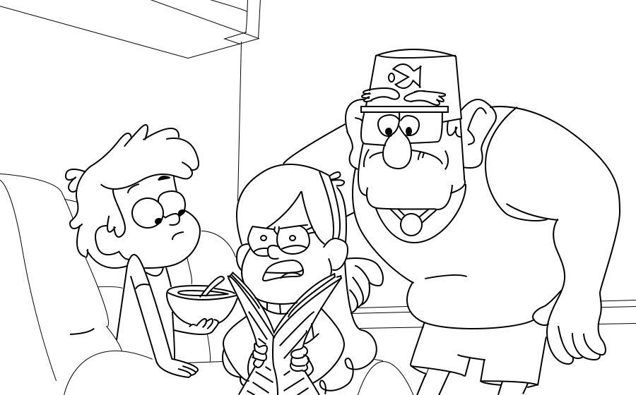 «Раскраска с персонажами мульт-сериала Гравити Фолз для ...