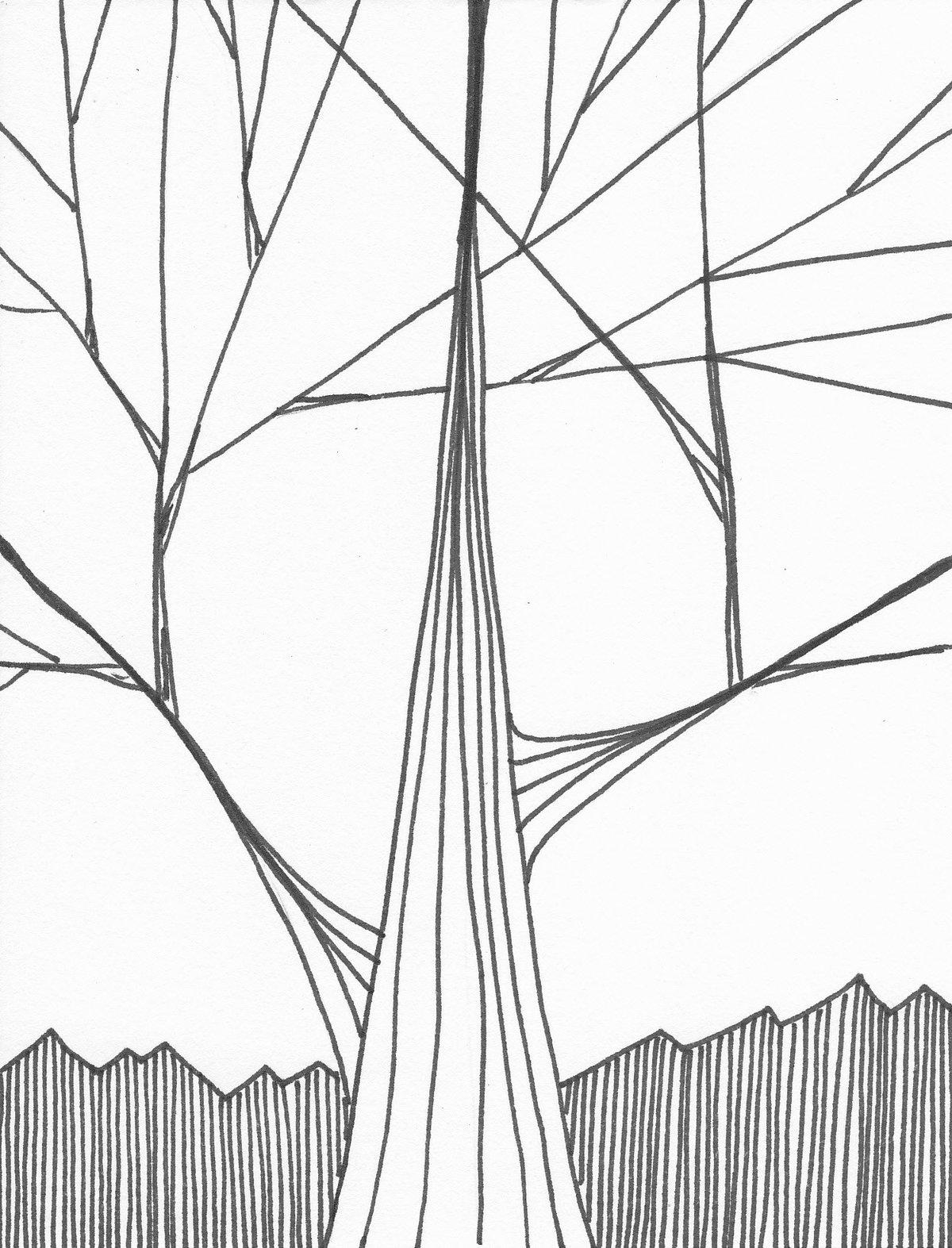 испуганный рисунки из линий карандашом толстые и тонкие потратили поездку