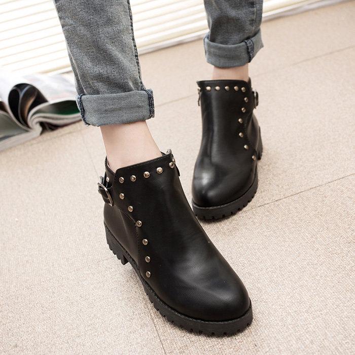его женские осенние ботинки без каблука фото тем