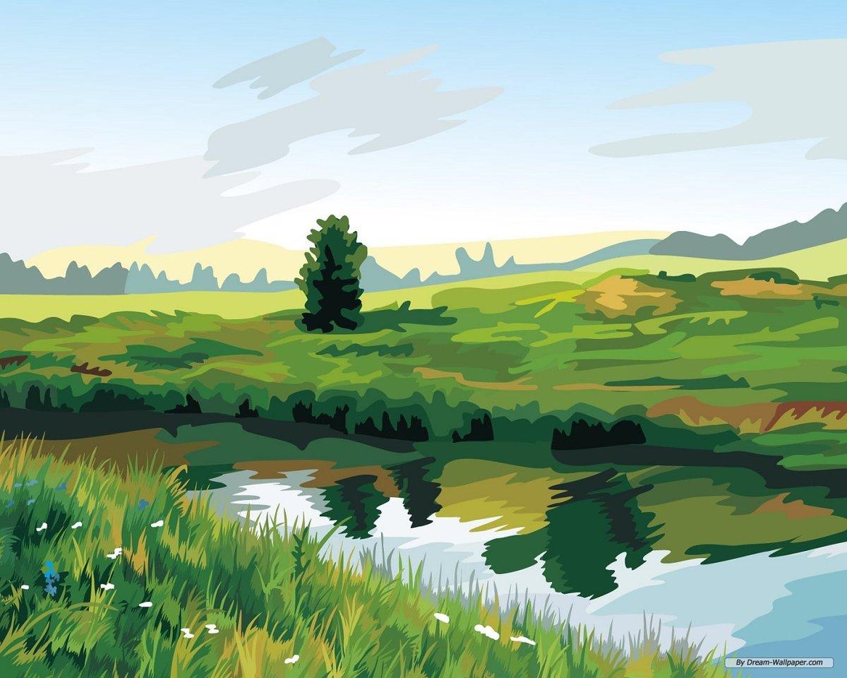 Картинка вектор пейзаж
