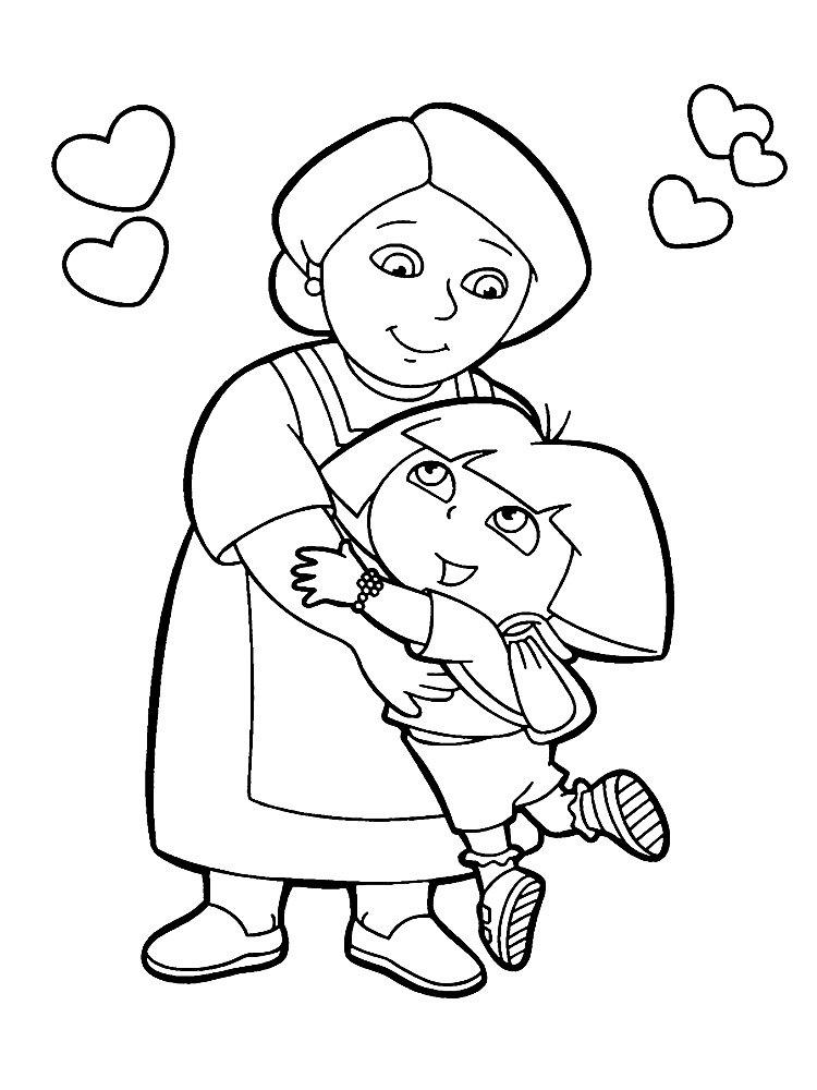 Раскраски для мамы распечатать, картинки анимационные поздравление