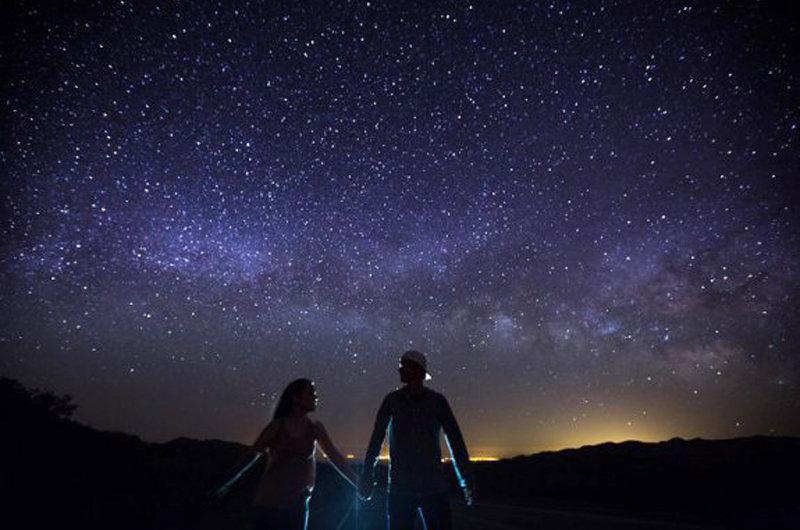 Для тебя, открытка ночное небо пара