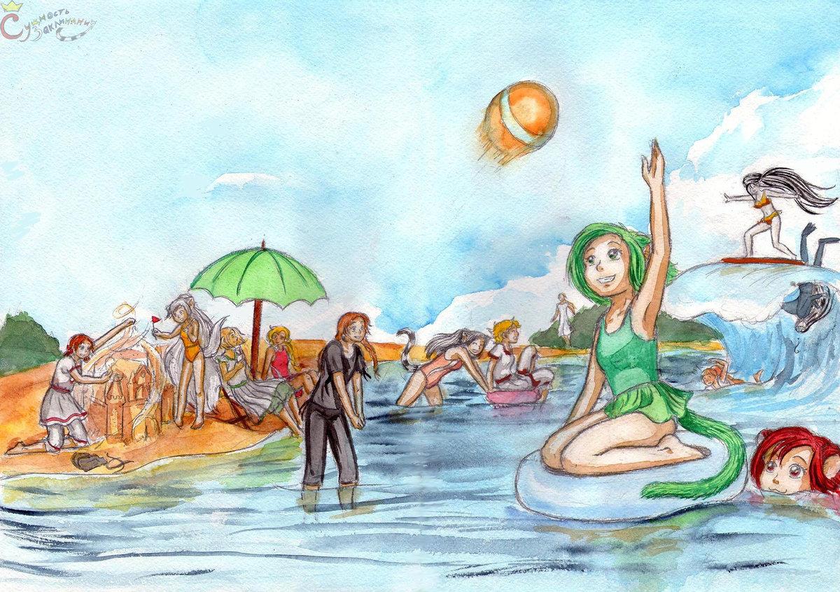 Картинки на летнюю тематику для срисовки