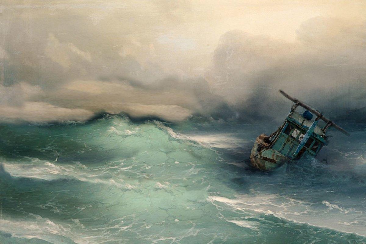 дерево картинки лодки в море в шторм жёсткой конкуренции или