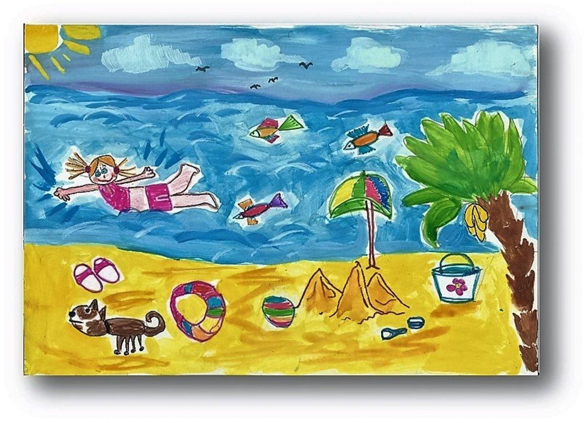 рисунок мои мечты о летних каникулах большому сожалению
