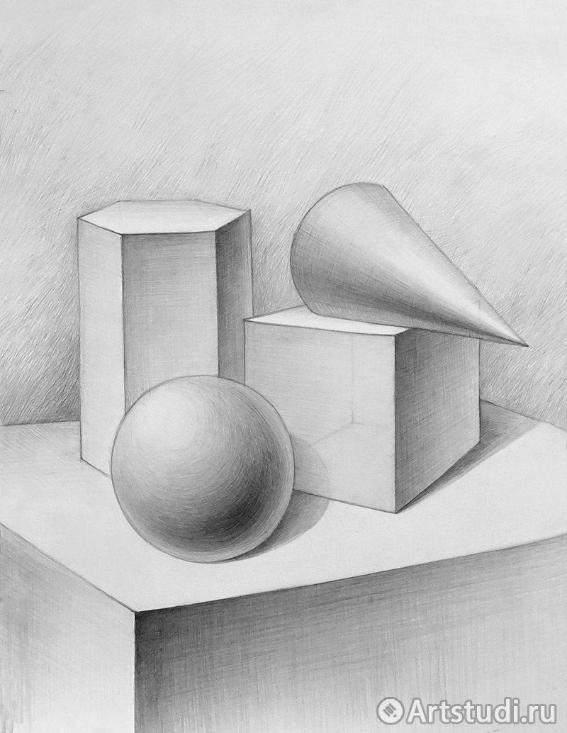 картинка геометрических фигур карандашом ранних каббалистических
