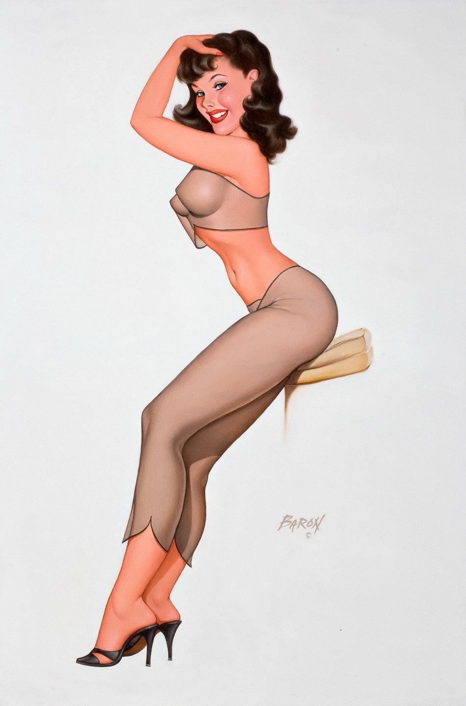 Naked pin up girls gifs