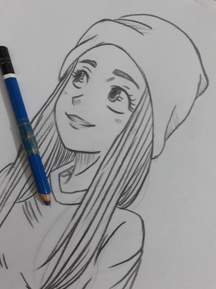 Прикольные картинки девушки для срисовки