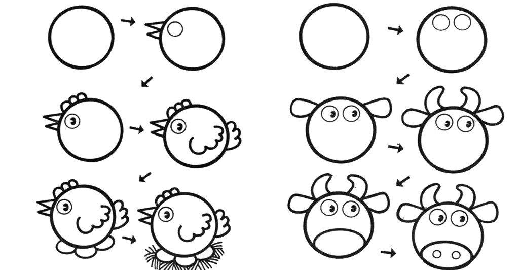 Картинки для ребенка 5 лет рисовать