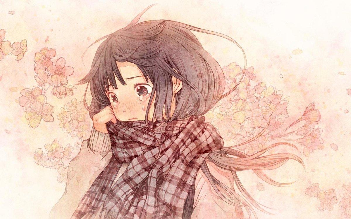 Картинки плачущей девушки аниме, сделать открытку