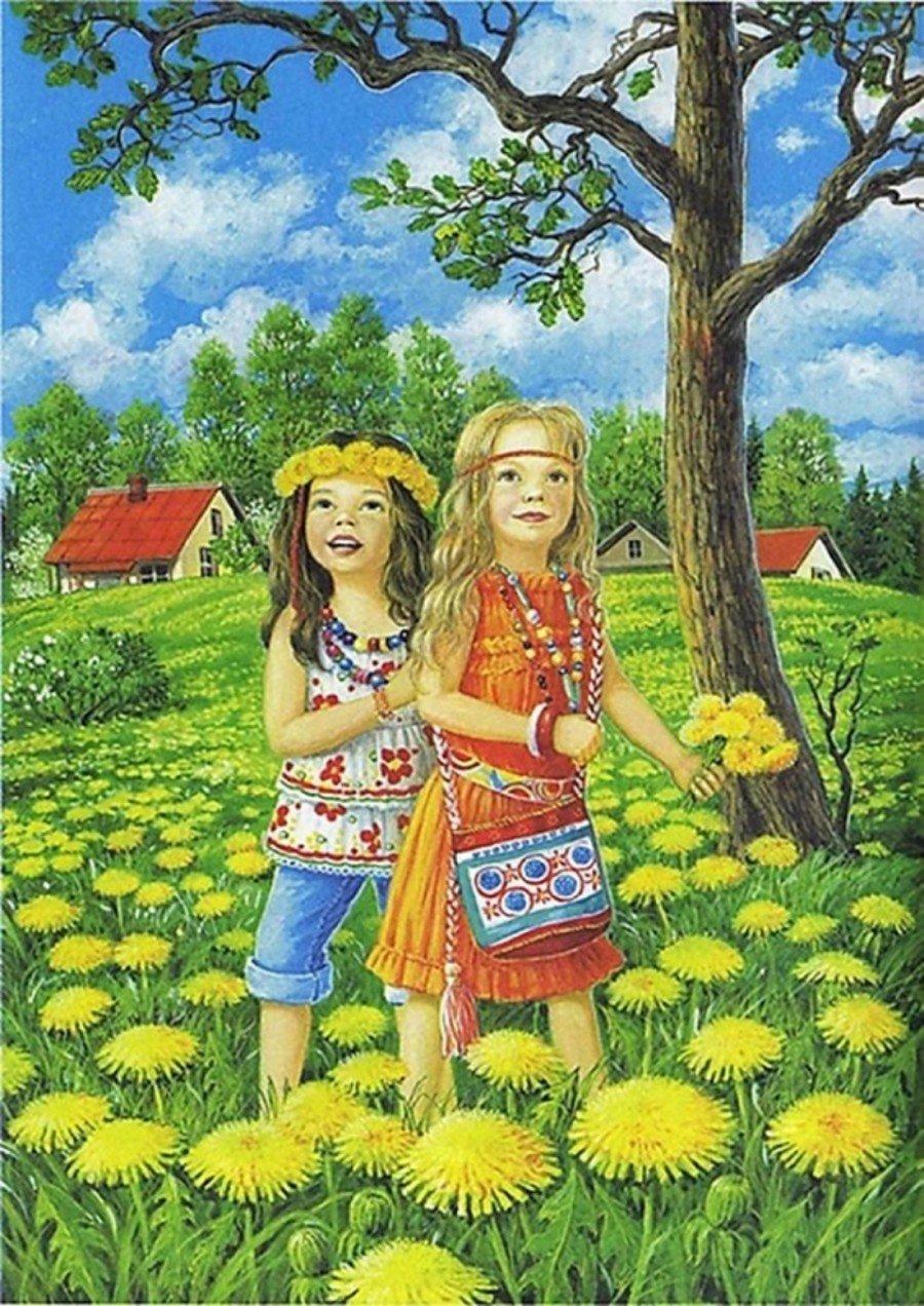 Картинки детские лето, музыкальную