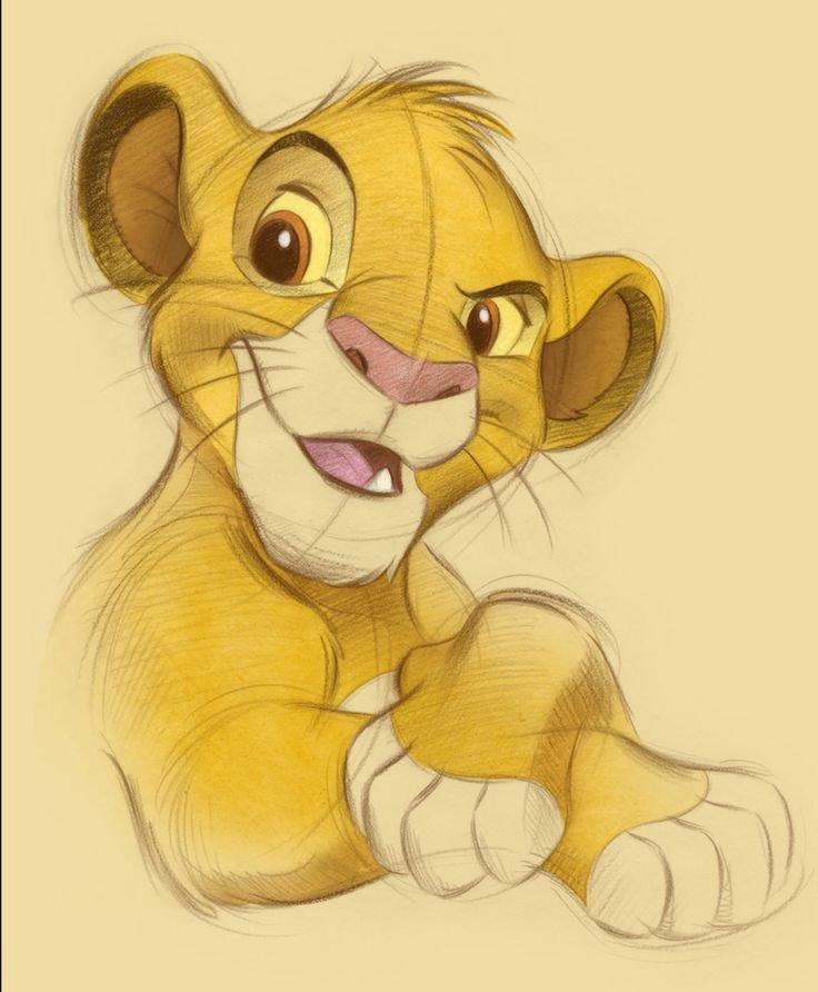 получайте король лев рисунок цветной если