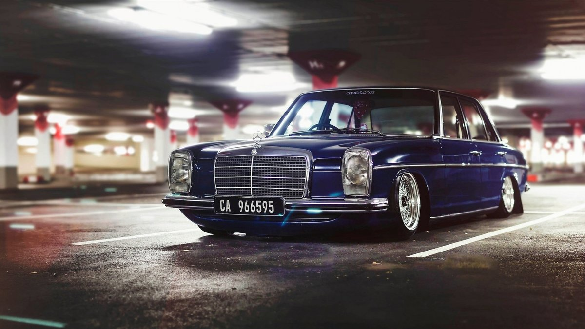 "Mercedes Benz Wheels >> ""mercedes-benz w115 stanceworks bbs wheels parking old car HD"" — card from user zujckov.alesha ..."
