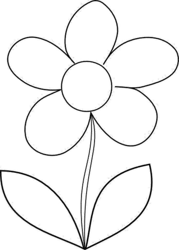 Шаблоны цветочек 5 листочков, прикольные смешные