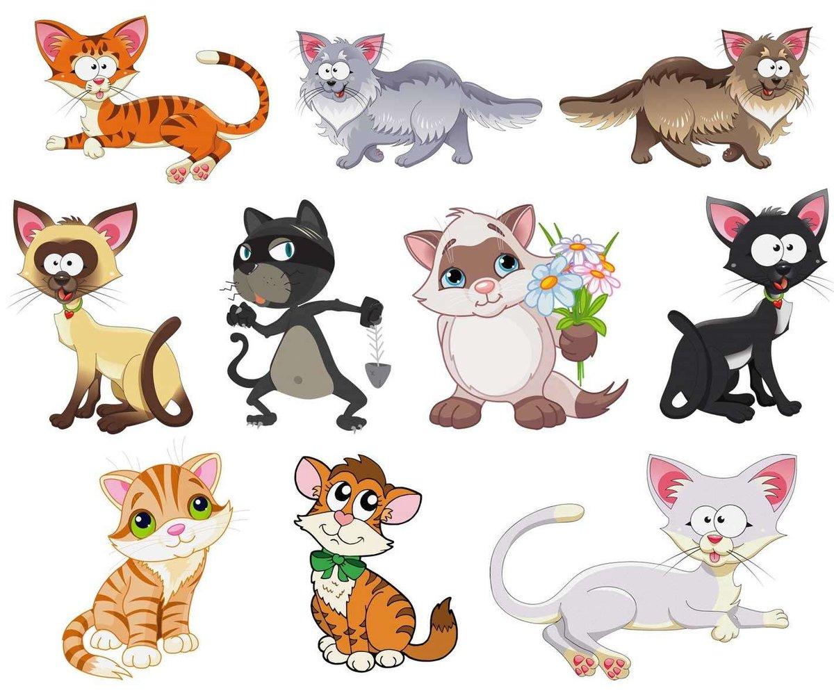 Картинки для, смешной кот рисунок для детей