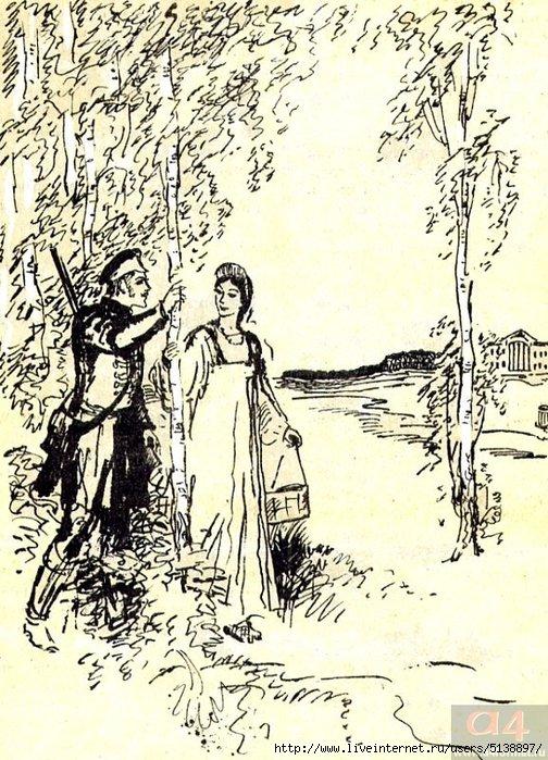 картинки из поэм а с пушкина ложиться