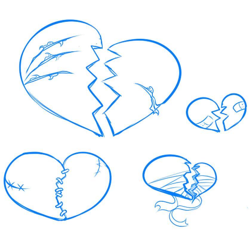 Картинки сердечек как нарисовать
