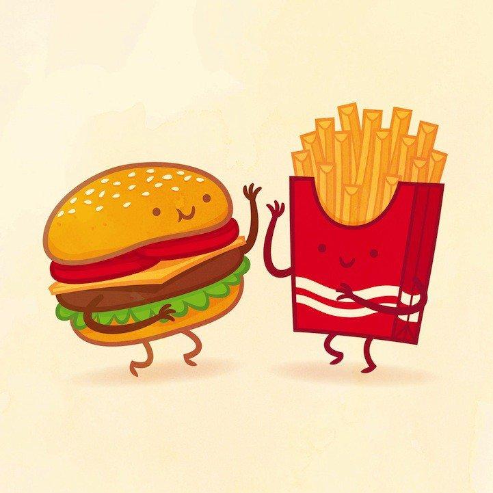 Бургер смешная картинка