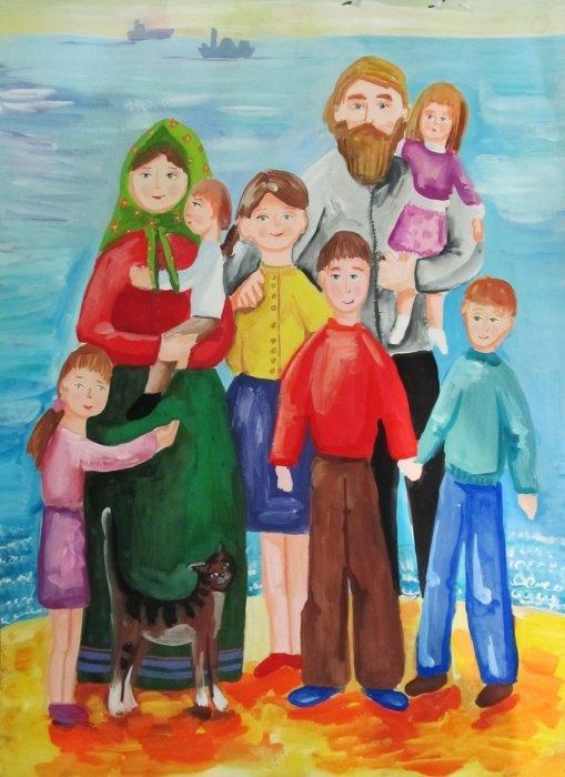 рисунок на тему традиции нашей семьи архитектуре