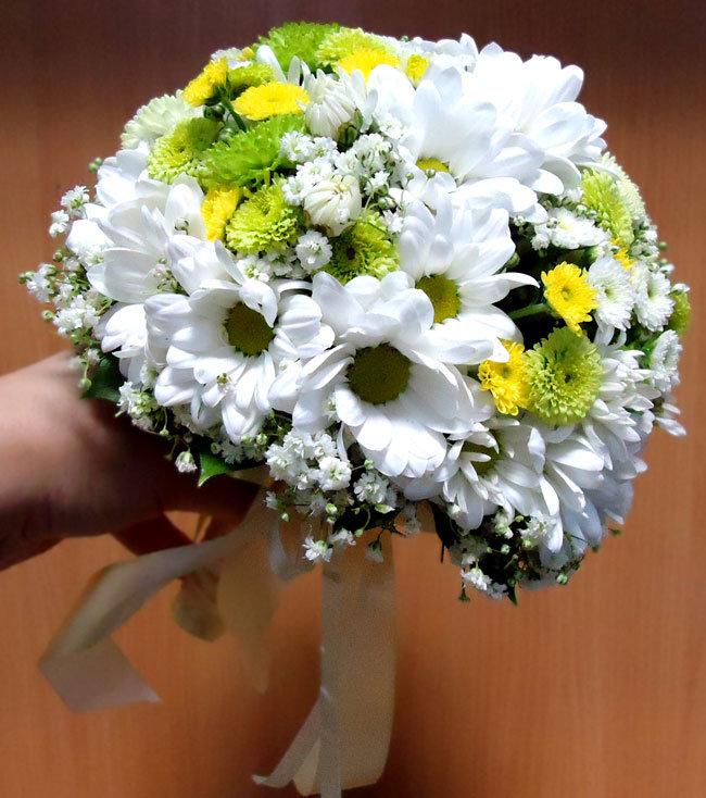 Статуи, дизайн свадебные букеты с хризантемами