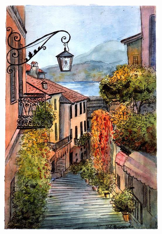 Италия в картинках нарисованная