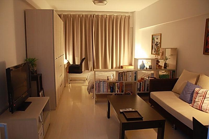 маленькая спальня гостиная дизайн фото