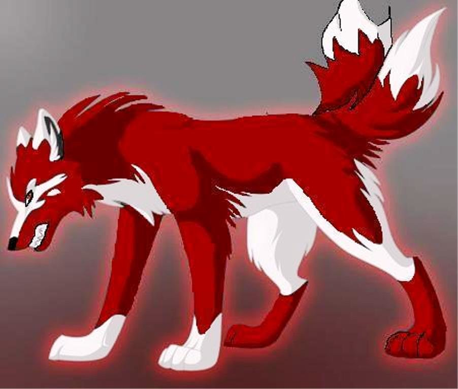 Картинки аниме волки с именами