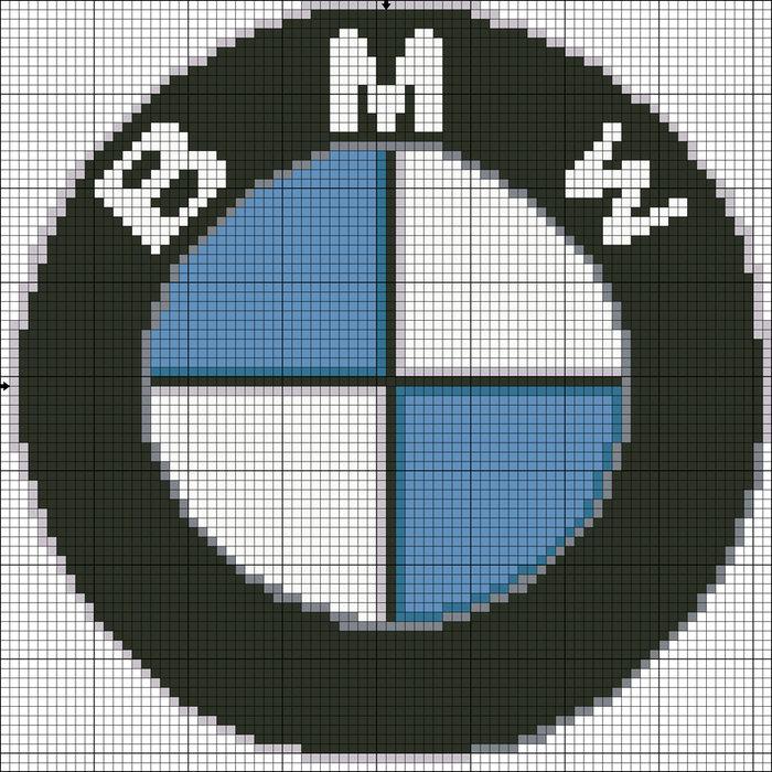 картинки по клеточкам логотипы машин