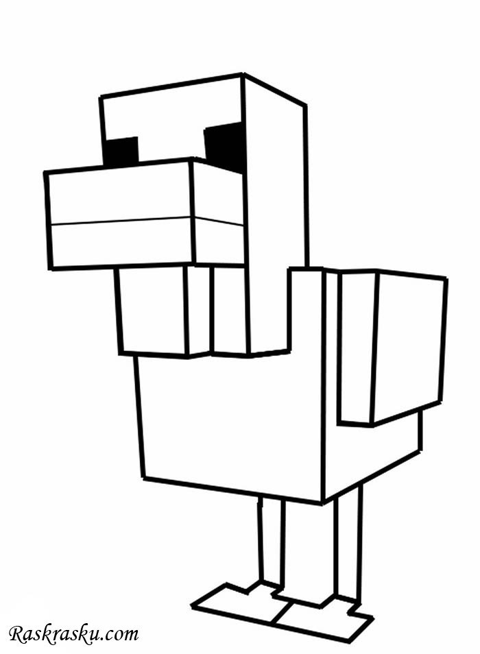 «Раскраска Курица из майнкрафт » — карточка пользователя ...