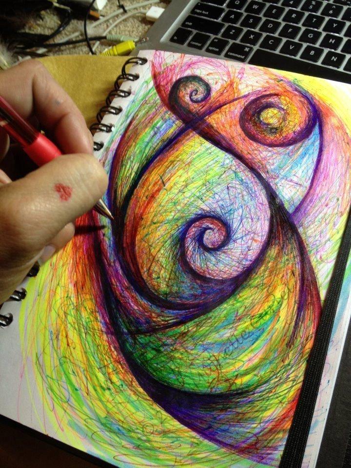 время прикольные рисунки цветными ручками сильный пол бунтовал