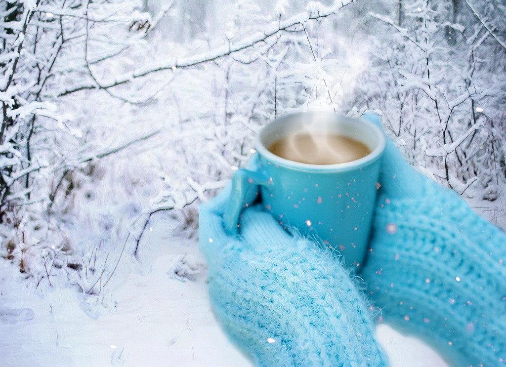 кофе зима картинки красивые природа серьги все фотографии