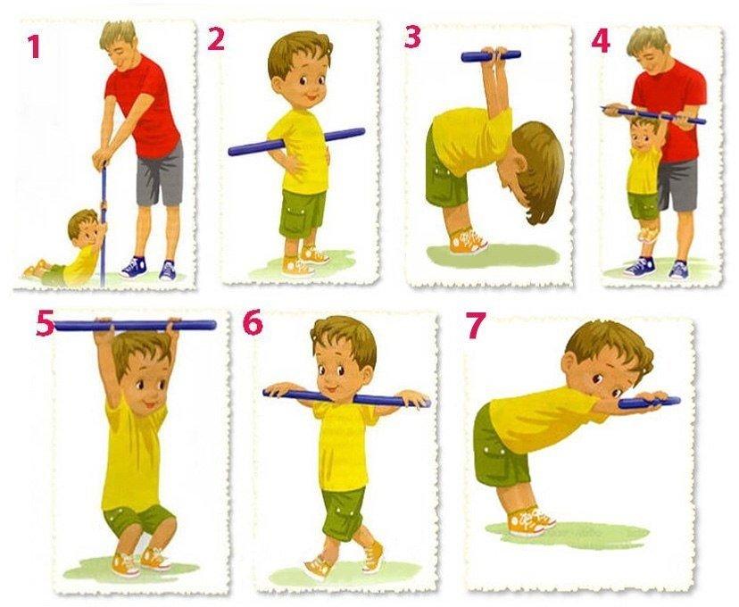 сожалению, упражнения в картинках для малышей собрал практически
