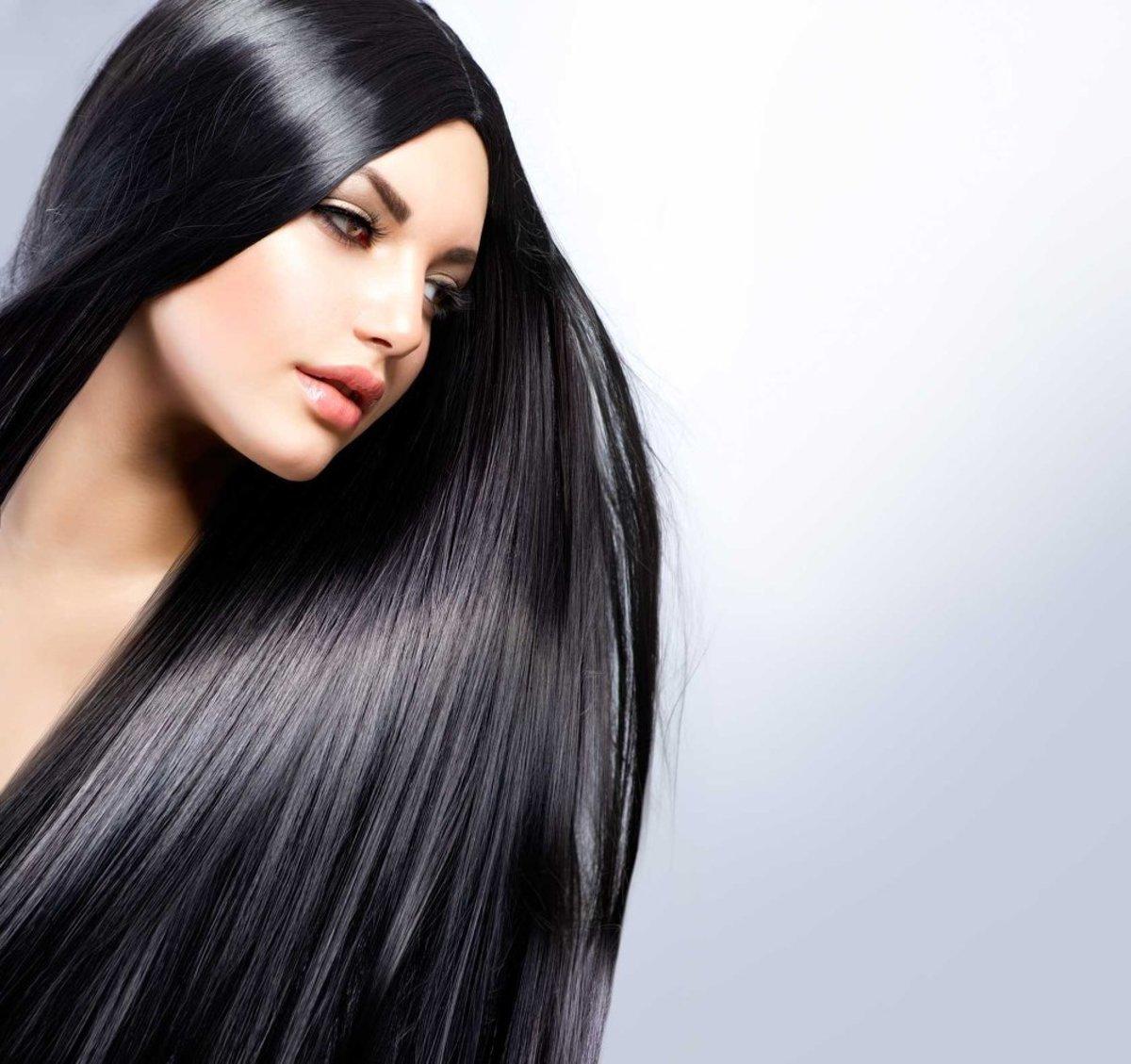 брюнетки с длинными и красивыми волосами несколько