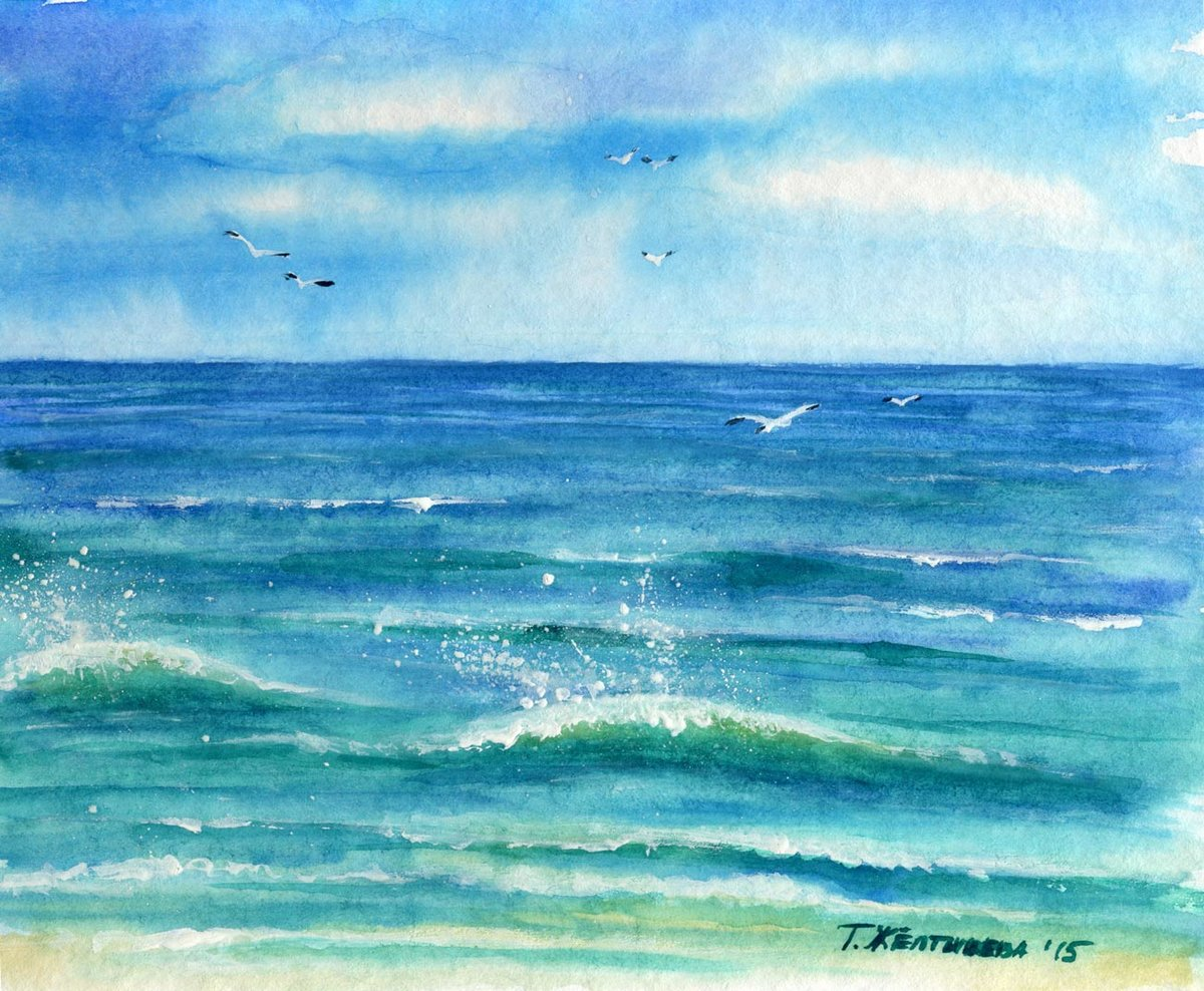 Акварельные картинки море
