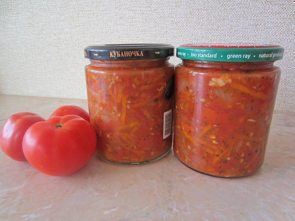 Десертный салат из помидор на зиму рецепты