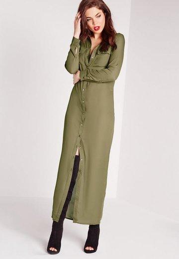496ccddc32a Длинное зеленое платье-рубашка.» — карточка пользователя elikdm в ...