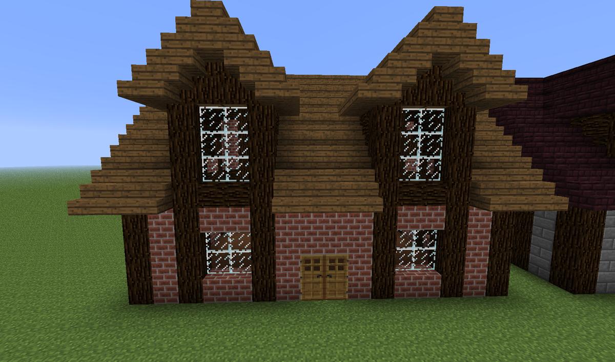 Майнкрафт как построить большой дом в картинках