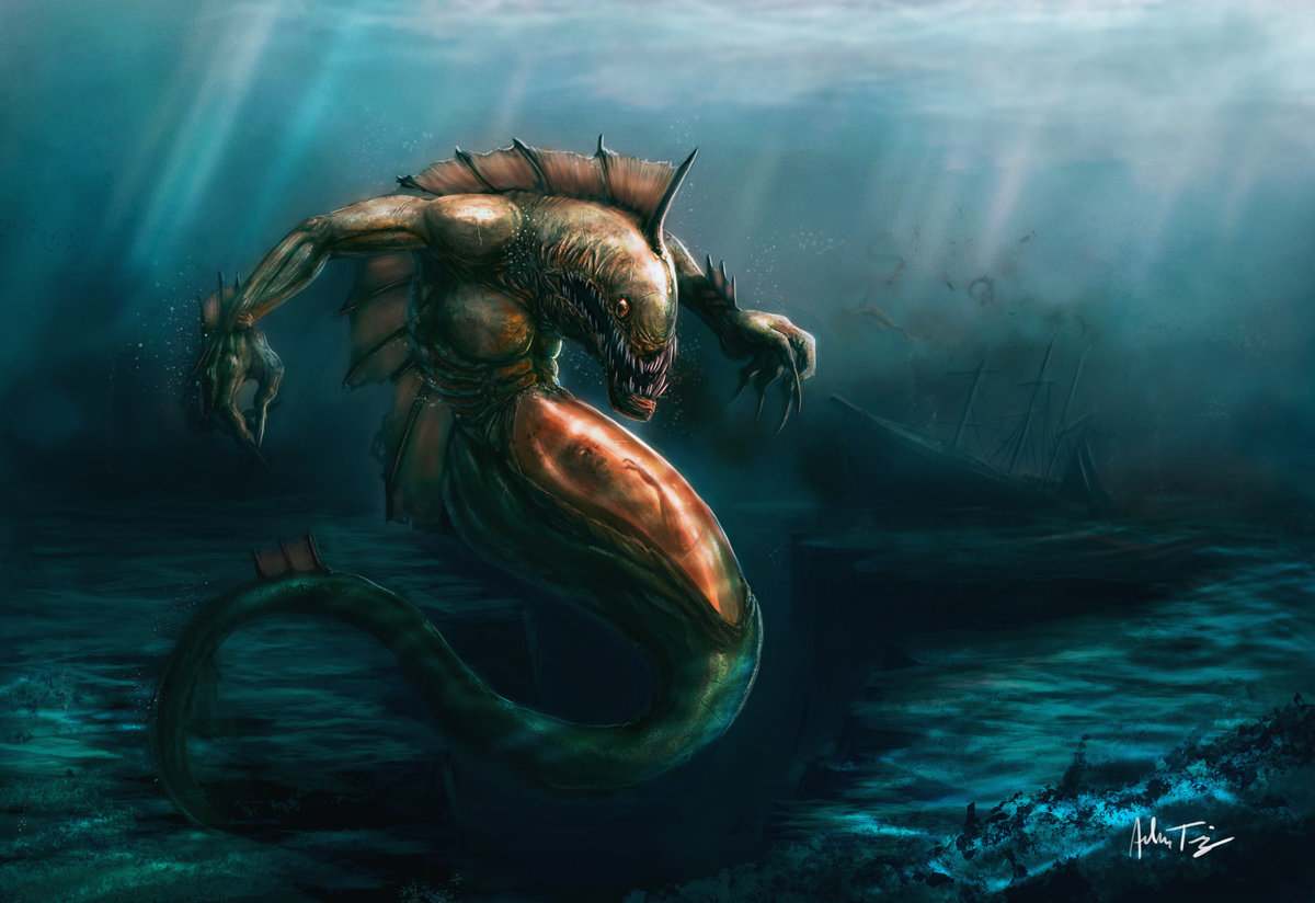 Речное чудовище картинка