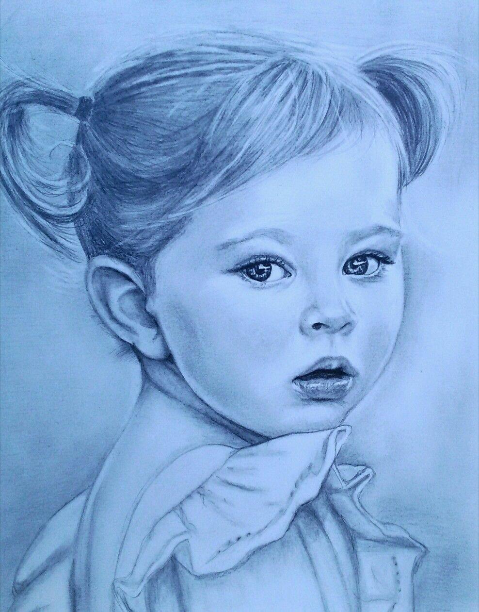 Картинка ребенка нарисованная карандашом