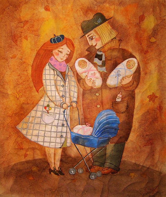 Днем рождения, красивые картинки художников иллюстраторов