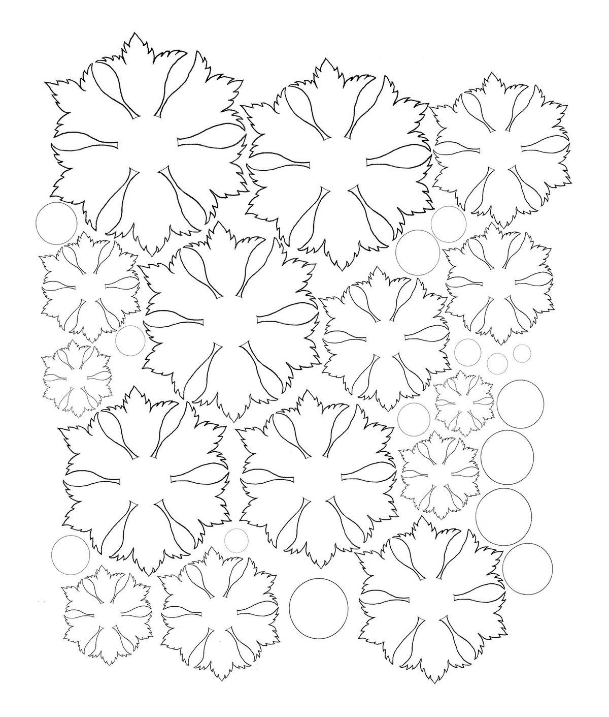 Цветы на открытку схема