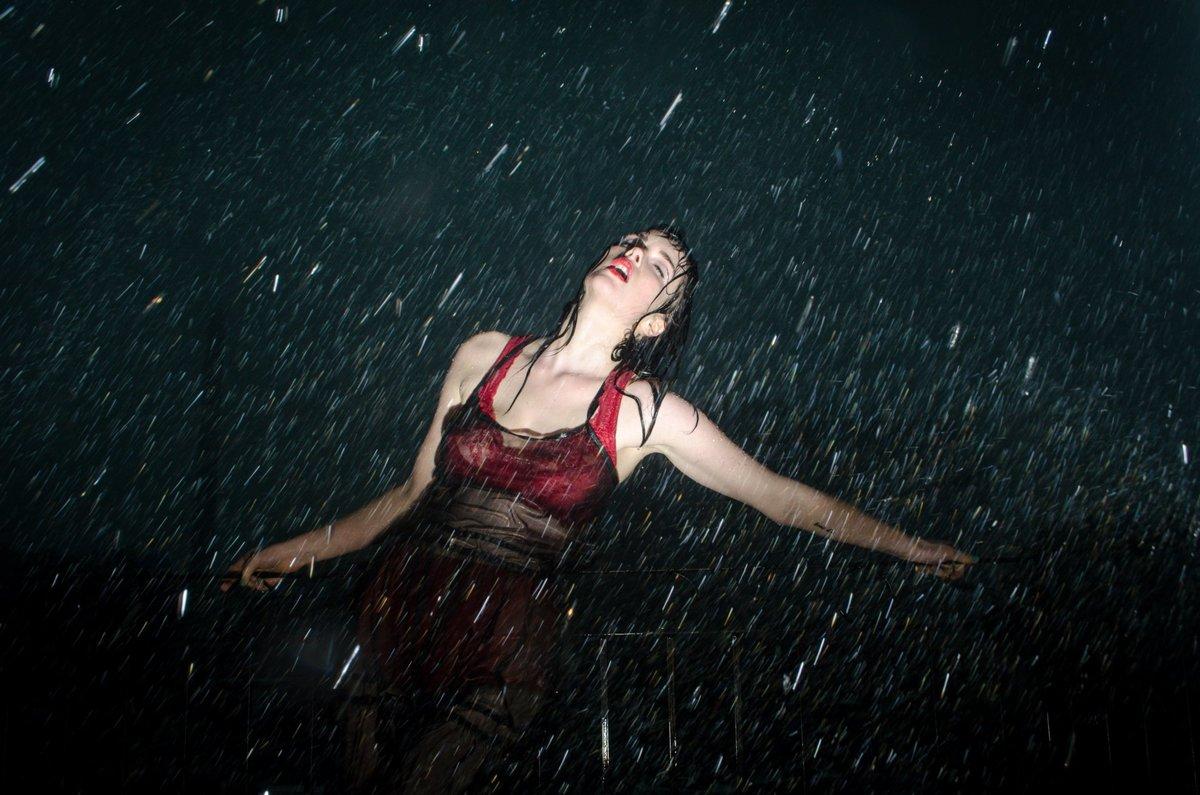 Лицо, картинки женщина под дождем