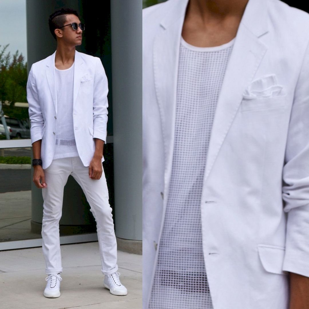 81f083d25bb9 White Jean Outfits for Men-Top 25 Ideas for White Jeans Guys