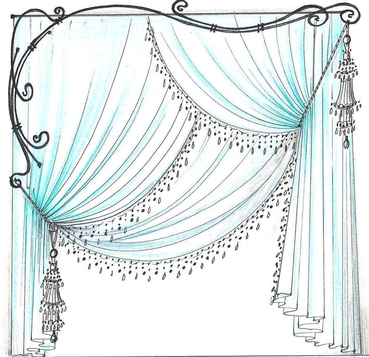 Рисуем обои и шторы