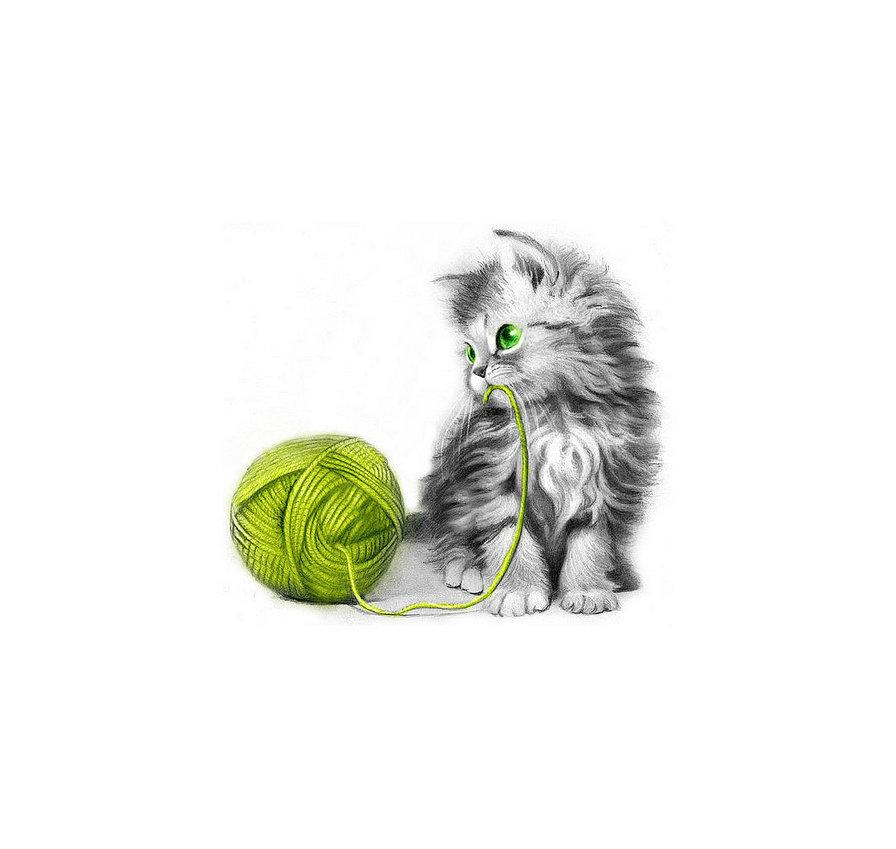 картинки клубочки для котенка продемонстрировала
