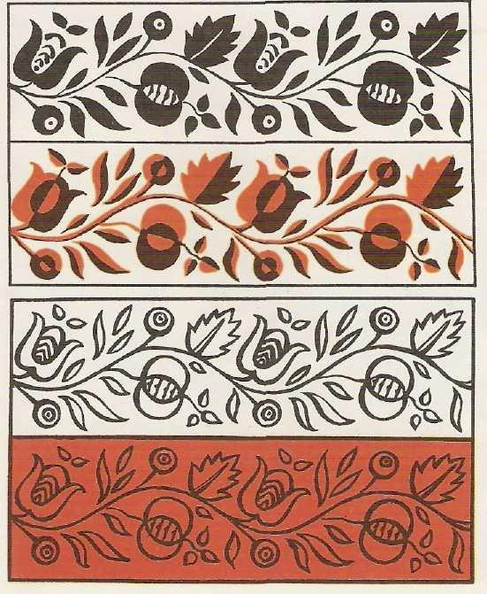 Картинки орнамент в полосе растительный