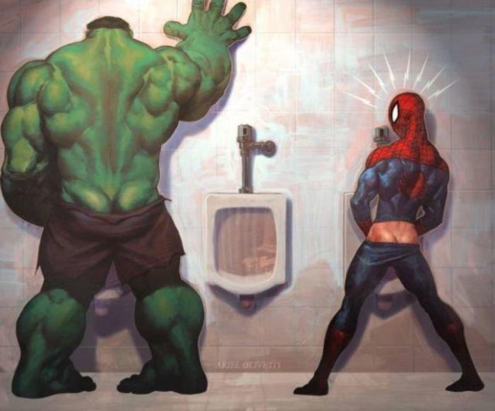 Прикольные картинки с супергероями марвел, открытки пожеланием доброго